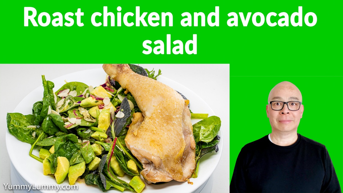 Thumbnail of roast chicken and avocado salad. Gary Lum.