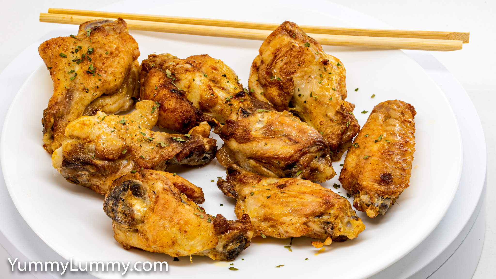 PHotograph of Chicken wings with Sichuan seasoning. Gary Lum.