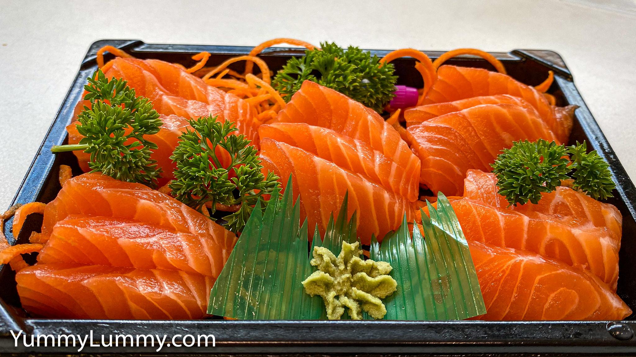 Salmon Sashimi from Westfield Belconnen. Gary Lum.