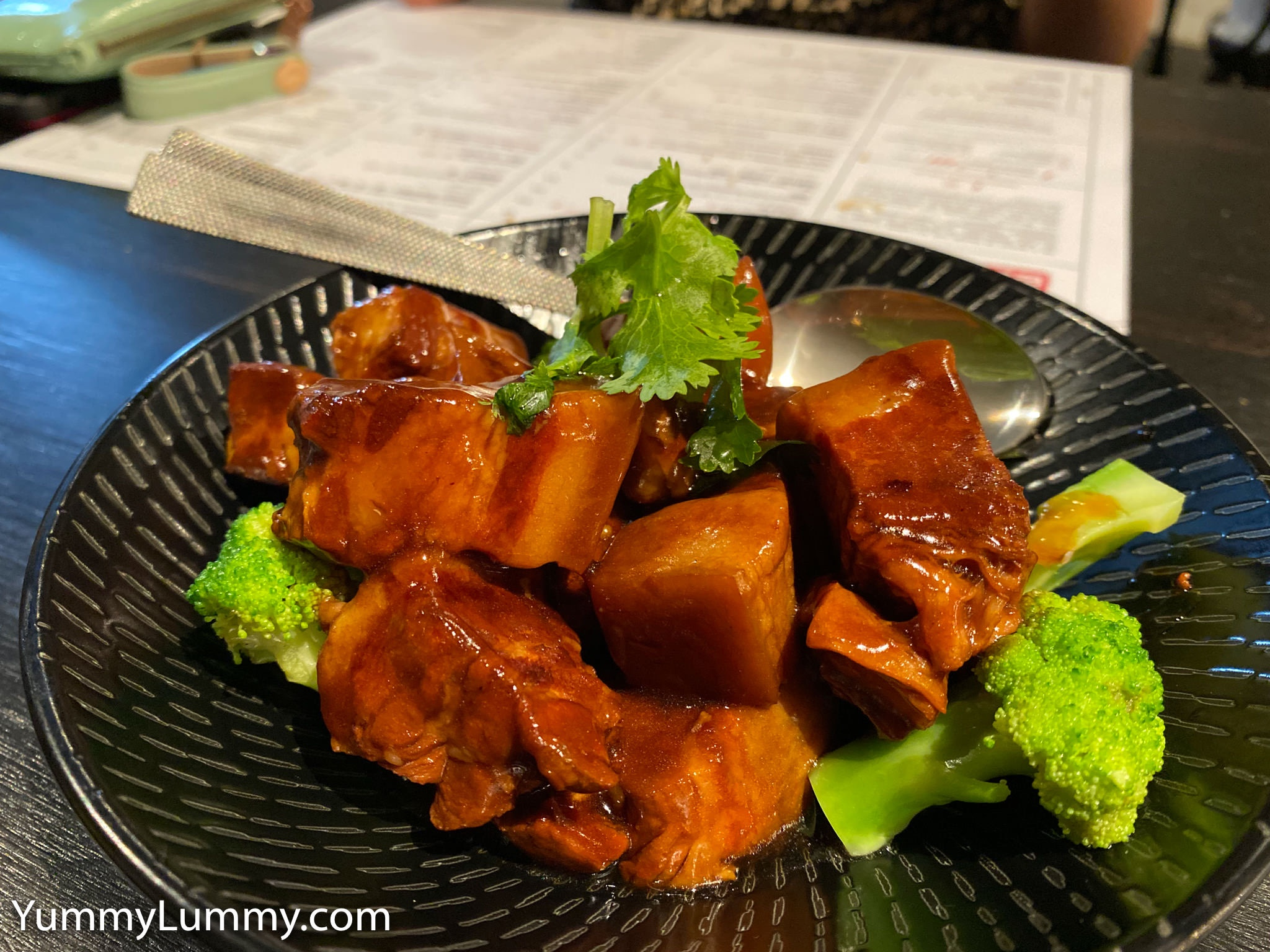 Slow cooked pork belly at Sichuan Papa. Gary Lum.