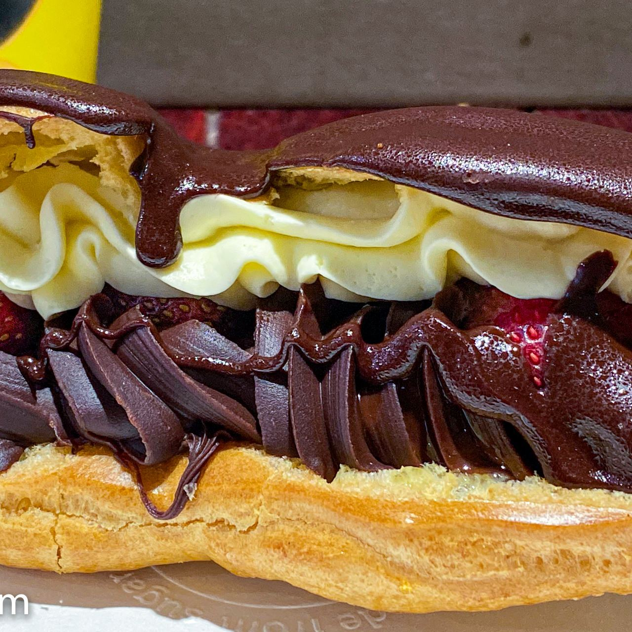 Free chocolate eclair and coffee on the Dobinson's Bakery coffee card, Westfield Belconnen. Gary Lum.