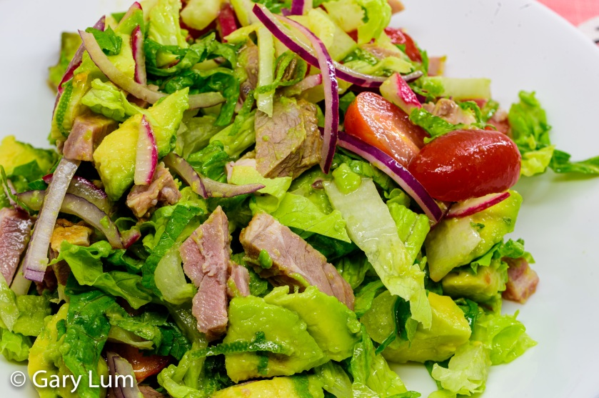 Leftover lamb and avocado salad. Gary Lum.