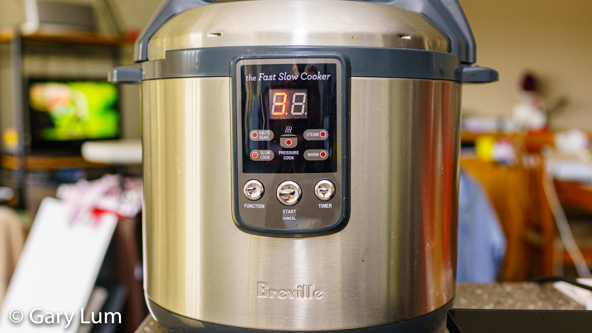 Breville Fast Slow Cooker cooking lamb. Gary Lum.