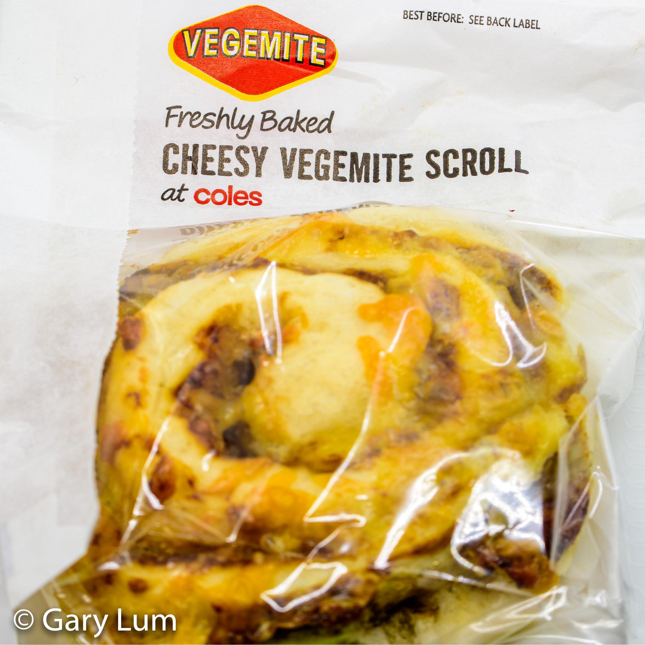 Coles Cheesy Vegemite Scroll. Gary Lum.