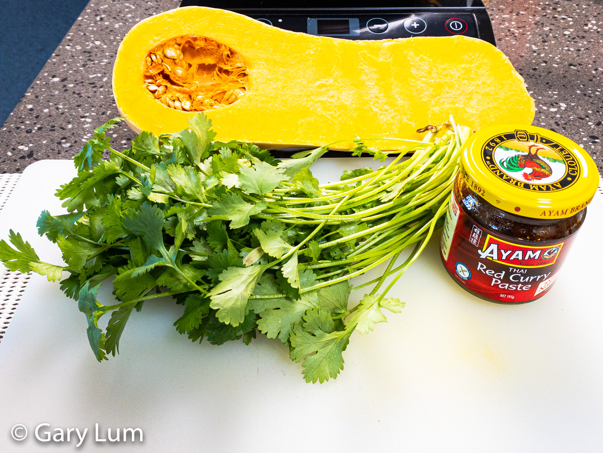 Butternut pumpkin Coriander Thai curry paste