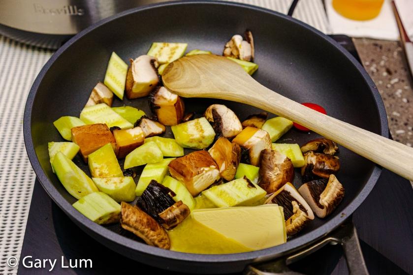 Mushroom Zucchini Eggplant