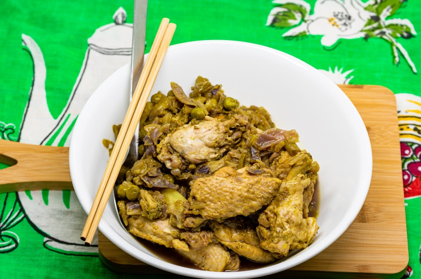 Pressure cooker curry chicken wings
