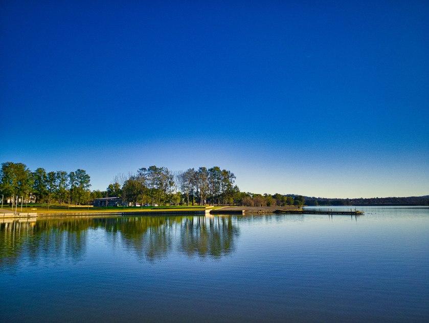 Lake Ginninderra on Sunday morning.
