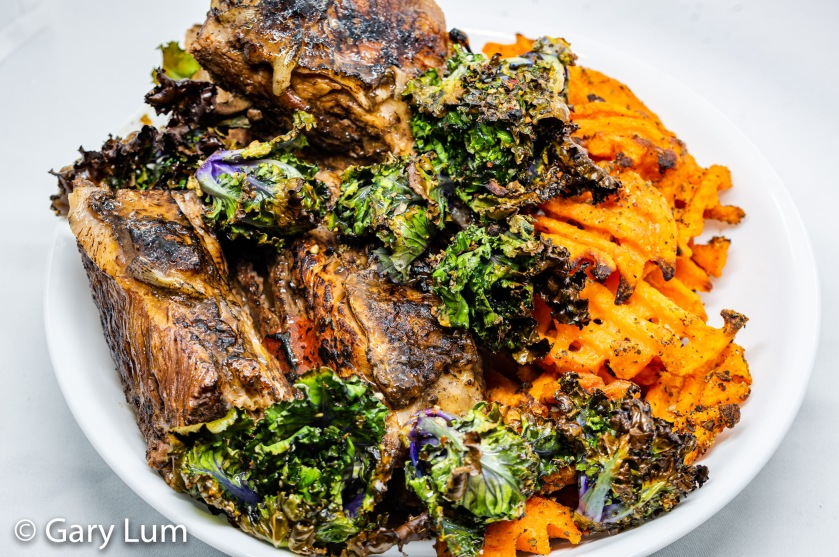 Bundaberg sarsaparilla beef short ribs with sweet potato and kale sprouts