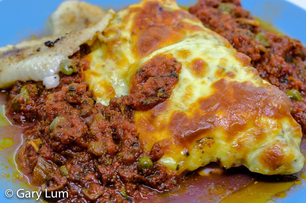 Pollo pizzaiola andcabbage